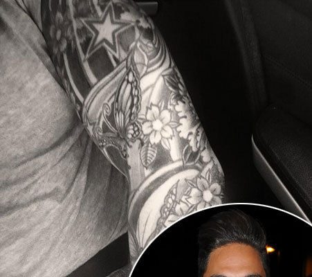 towie 39 s mario falcone shows off new body art in twitter picture ok magazine. Black Bedroom Furniture Sets. Home Design Ideas