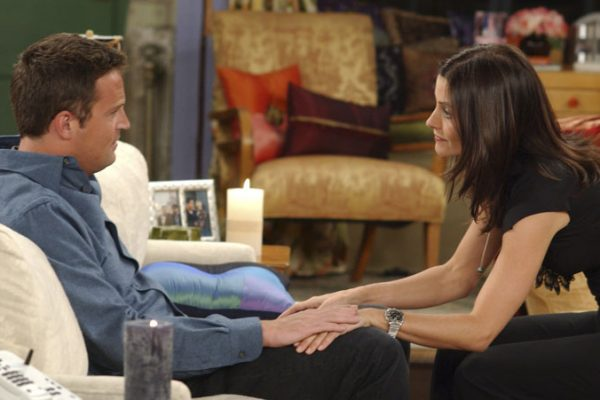 Monica and chandler dating in real life