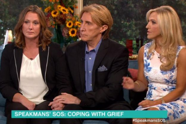 Anita on the This Morning sofa with The Speakmans