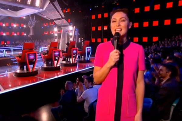 The Voice presenter was asked where her dress was from on social media