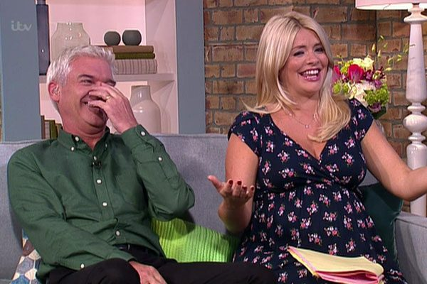 Pregnant Holly Willoughby looks ready to pop as she and ...