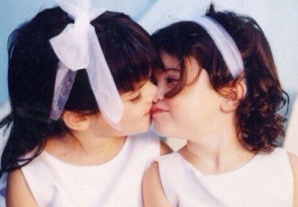 Kendall Jenner shared this photo of her and Kylie before they were famous