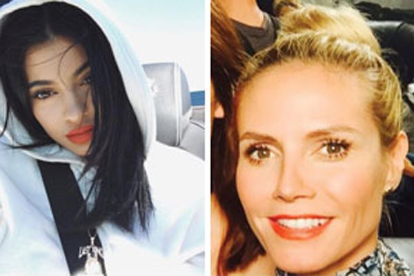 Kylie Jenner and Heidi Klum are popular choices