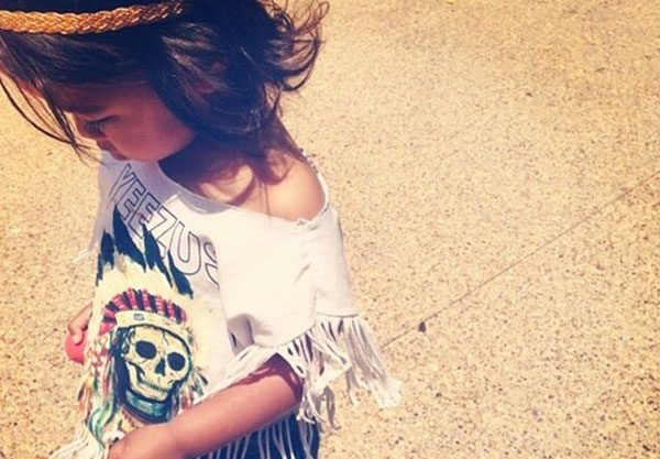 Kim Kardashian shared this snap of one of the mini festival goers