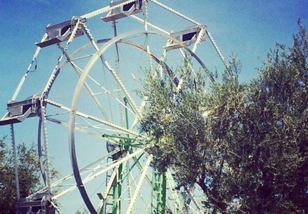 A Ferris Wheel was put up in Kourtney Kardashian's garden for the party