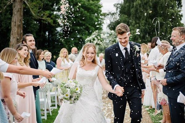 The YouTube couple wed infront of friends and family