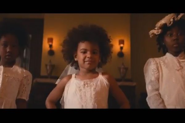 Blue Ivy made a little cameo appearance in Beyonce's music video