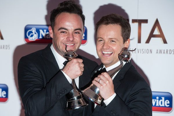 Ant and Dec won the best TV presenter award for the 15th year in a row
