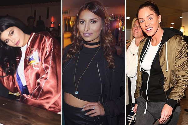 Ferne McCann, Kylie Jenner and Vicky Pattison are big fans of the bomber jacket