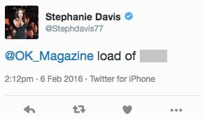 Stephanie Davis replied to Sam's statement in a now deleted tweet