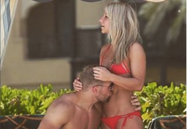 Chloe Madeley posted this adorable snap on Instagram to celebrate a year with James Atwell