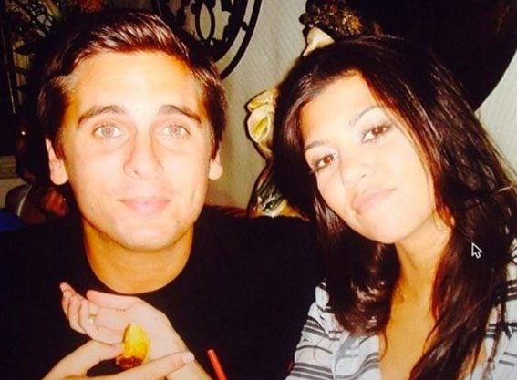 Kourtney Kardashian shares this throwback photo of herself with ex partner Scott Disick