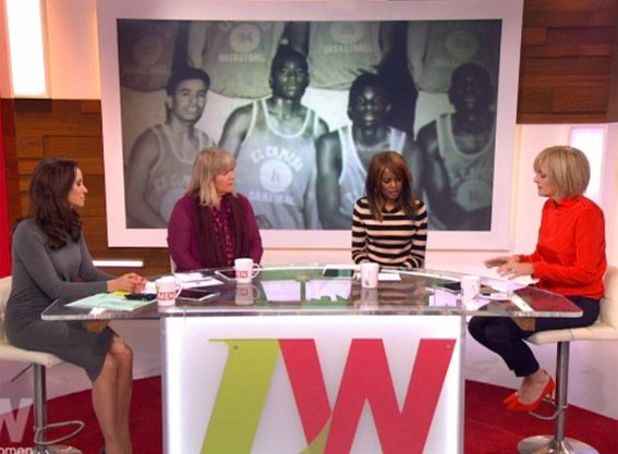 June Sarpong with the panel on Loose Women