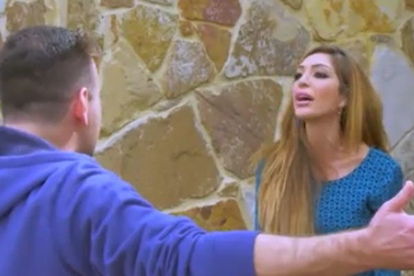 Farrah Abraham was seem getting into an argument with the Teen Mom producer