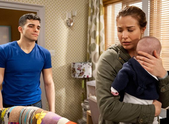 Carly will fear for baby Johnny's safety when his dad Kirin takes his frustration out on him
