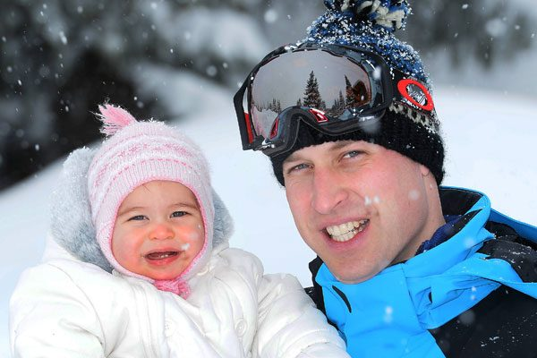 Prince William and Princess Charlotte look adorable in the snow