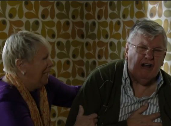 Charlie Slater suffered a heart attack in tonight's episode of EastEnders