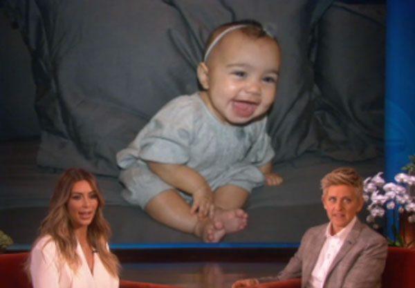 Kim Kardashian revealed new North West photos on TV last night