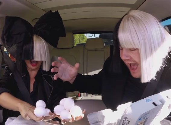 Sia showed off her pretty impressive party trick
