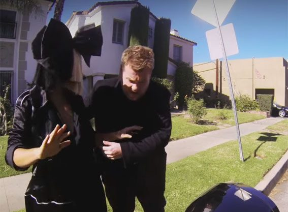 Sia joined James Corden for Carpool Karaoke - with a little help