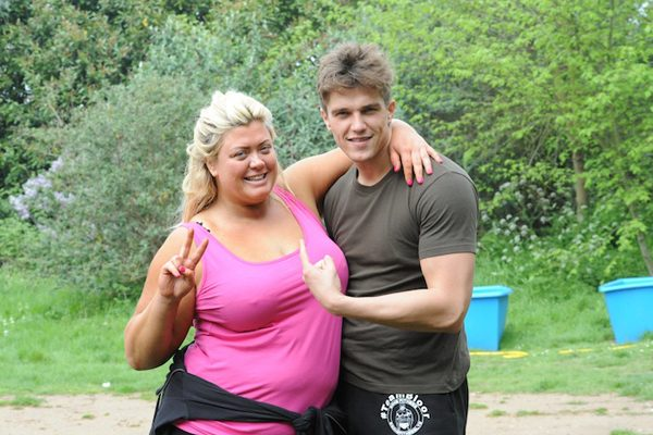 Gemma looked pleased to be whipped into shape