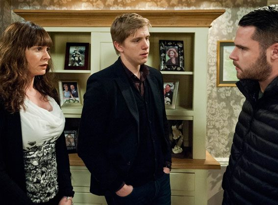 Aaron will make a decision over his dad's threat, but a shocking bombshell stuns Aaron