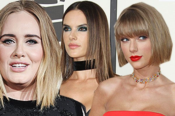 It was all about straight hair at last night's Grammy Awards 2016