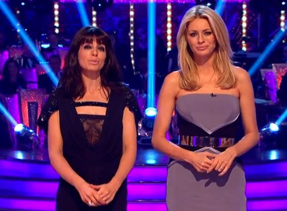 Claudia Winkleman suffered a double wardrobe malfunction at the Strictly Come Dancing final