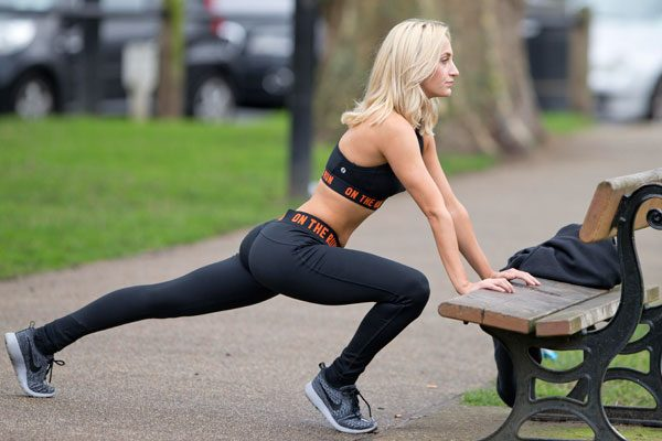 The Made In Chelsea star was spotted working out this week