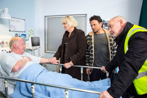 Michael ends up in hospital after trying to confront Phelan