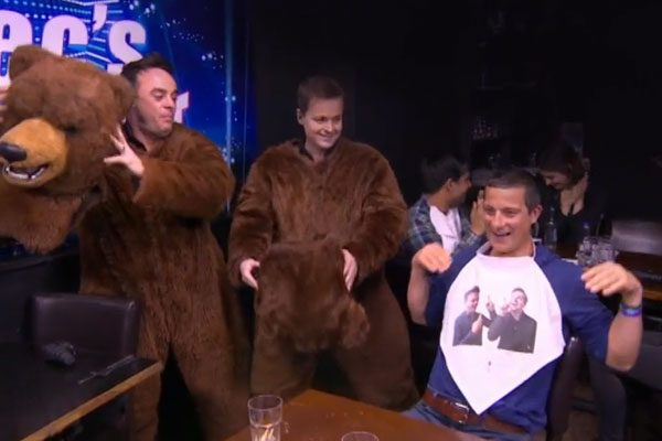 Bear Grylls is the latest star to fall victim to one of Ant and Dec's undercover pranks