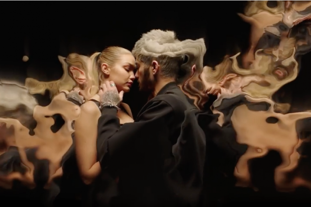 Zayn Malik and Gigi Hadid make out throughout the Pillowtalk video
