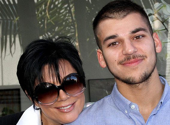 Happier times - Kris Jenner and Rob Kardashian in 2008