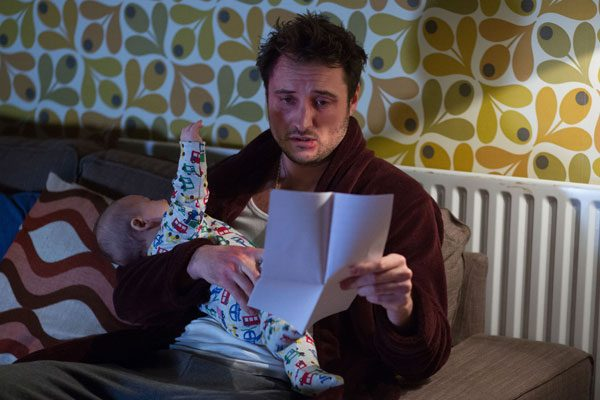 This is the moment Martin Fowler reads the letter telling him that Arthur isn't his son