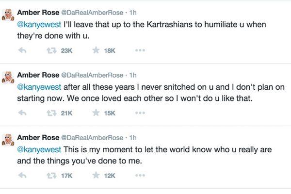 Amber's response to Kanye