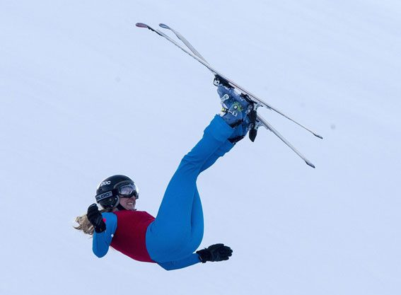 The Olympian suffered bad injuries after falling while practising for The Jump