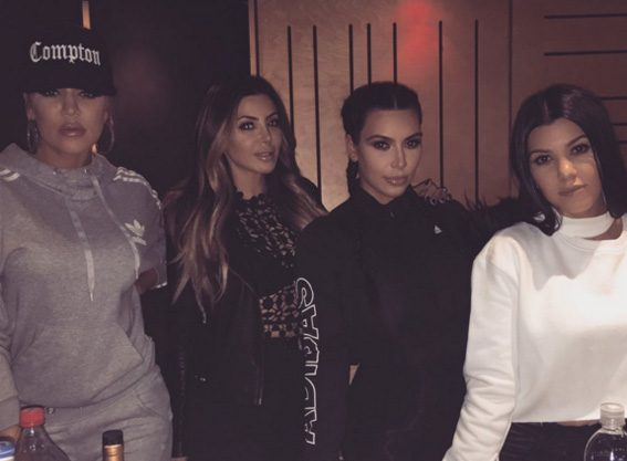 Kim Kardashian was joined by sisters Kourtney and Khloe in the studio