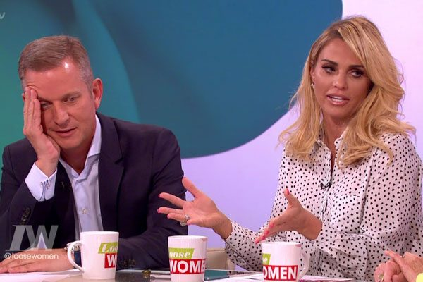 Katie Price revealed how Jeremy Kyle saved her relationship with her husband Kieran Hayler during her appearance on Loose Women