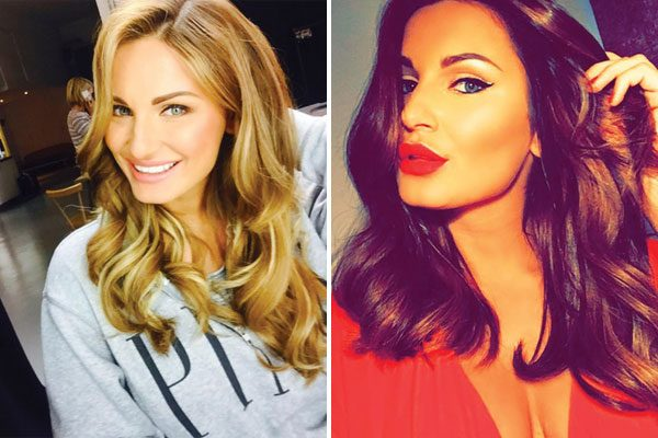 Sam Faiers shows off her new dark locks