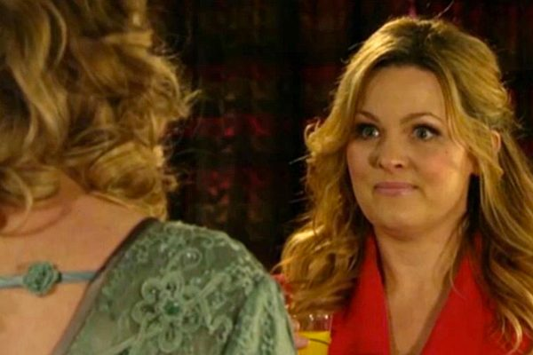 The Tanya Branning referred to Ian Beale as his off-screen name while chatting to his on-screen wife in the live EastEnders episode