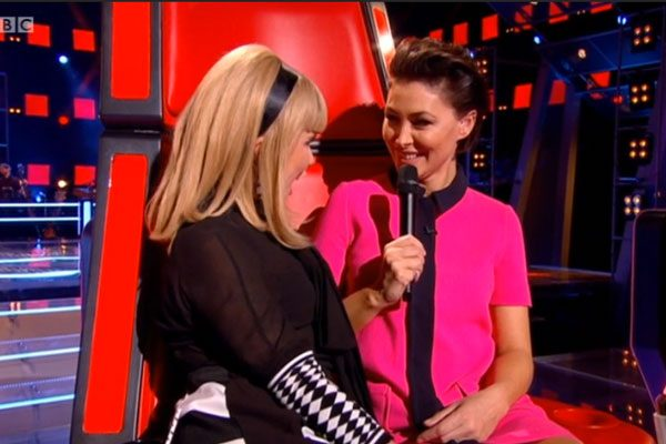 The presenter chatted to coach Paloma Faith during the battles round