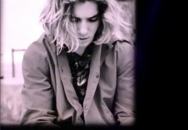 Madonna displayed a picture of Rocco behind her on the screen