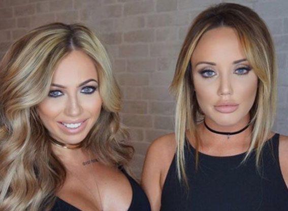 Holly Hagan shows off her dramatic new look whilst on a night out with Geordie Shore pal Charlotte Crosby
