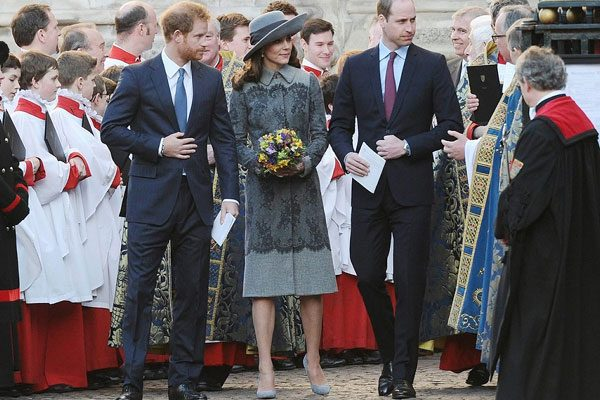 Kate, William and Harry looked stylish at a Royal event