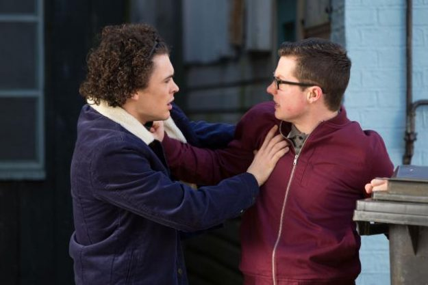 Paul Coker comforts Ben Mitchell when he finds out that Abi Branning has lost their baby