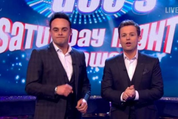 Ant and Dec jokingly warn the audience members on Saturday Night Takeaway