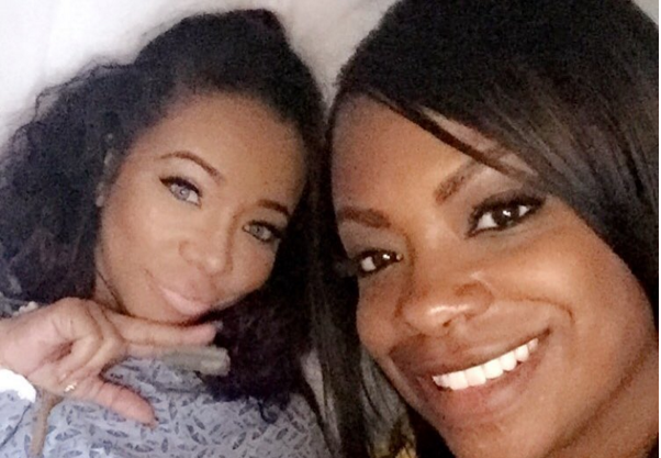 Tameka 'Tiny' Harris shared a hospital selfie with Kandi Burruss