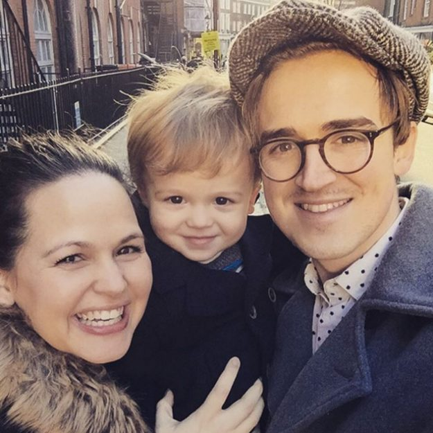 Gi and husband Tom Fletcher are also parents to son Buzz