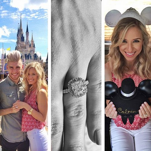 The Christian singer popped the question in Disneyland
