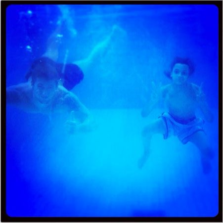 Pierri shared a cool underwater snap of him and Dan Osborne underwater